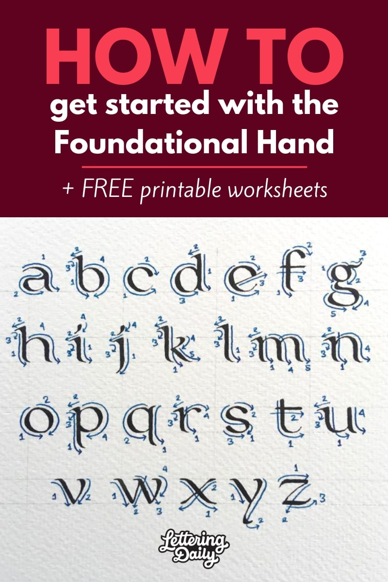 How to started with the Foundational Hand Lettering Daily