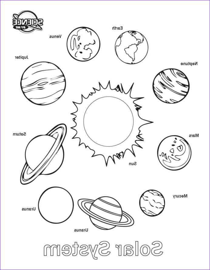 Solar System Printable Worksheets Coloring solar System Sheet Free Printable Sheets Awesome