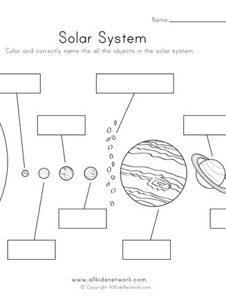 Solar System Printable Worksheets Objects Of the solar System Worksheet