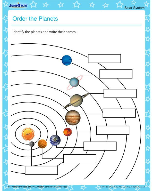Solar System Printable Worksheets order the Planets – Free Planet Worksheet for Primary Grades
