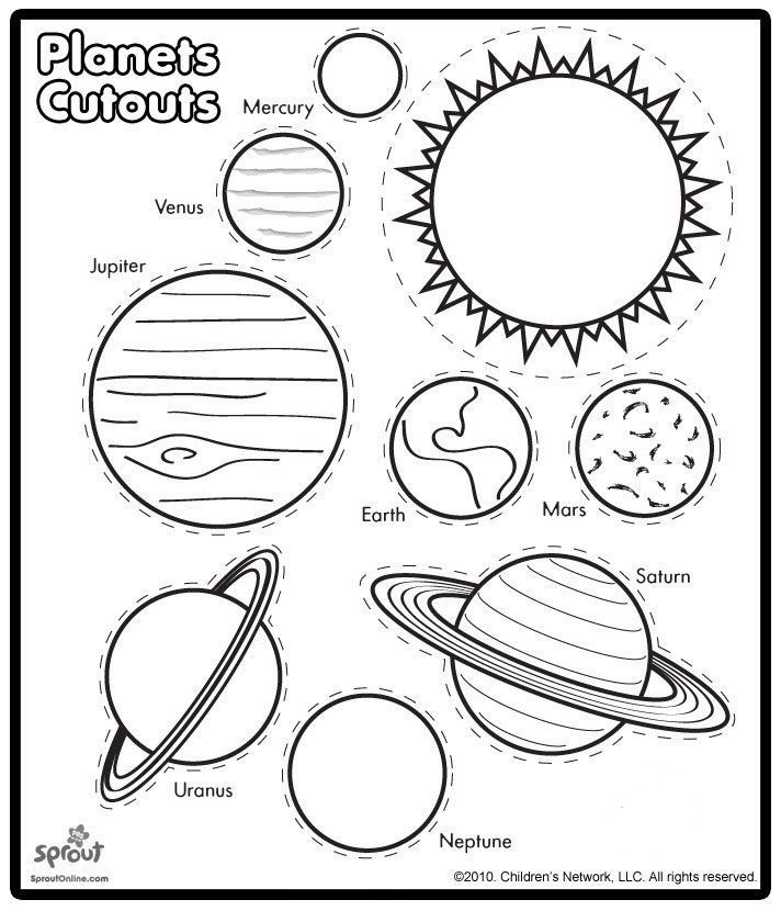 Solar System Printable Worksheets Printable solar System Coloring Sheets for Kids