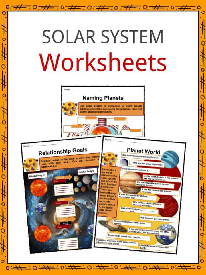 Solar System Printable Worksheets solar System Facts Worksheets Planets & Objects the System