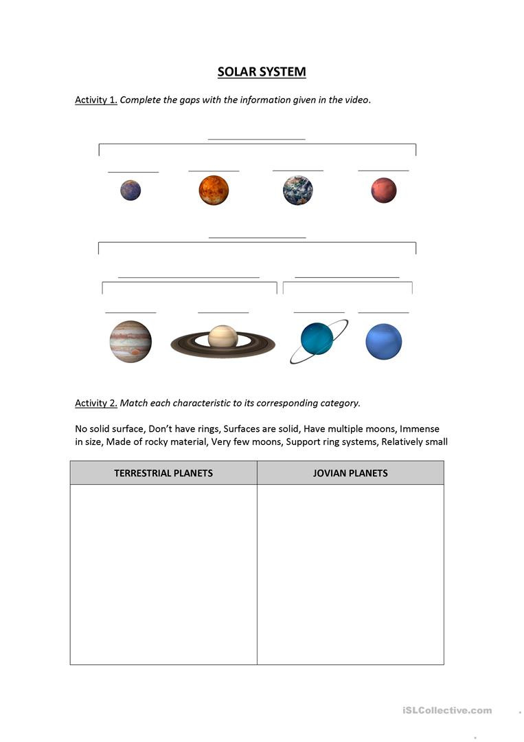 solar system worksheet video lesson video movie activities worksheet templates layouts 1