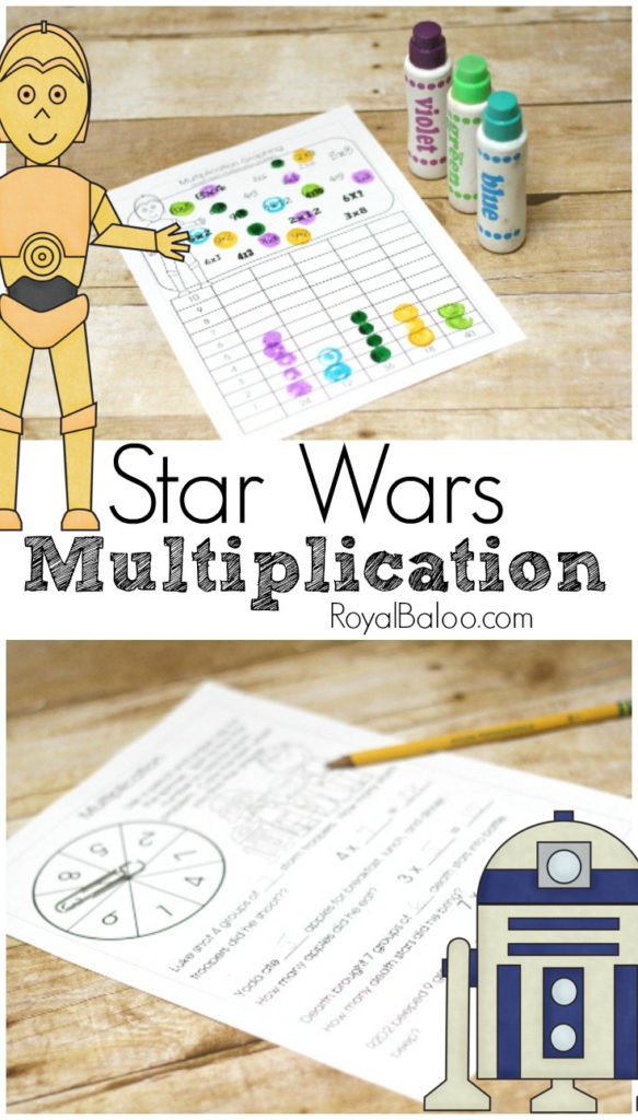 Star Wars Multiplication Worksheets Star Wars Multiplication Printables for Hands On Math