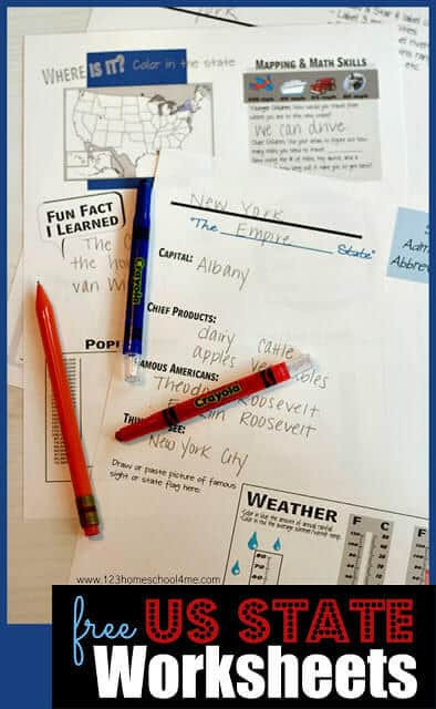State and Capital Worksheets Printables 50 States Worksheets