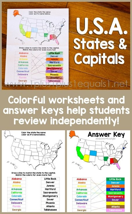 State and Capital Worksheets Printables Free Printable States and Capitals Worksheet Homeschool