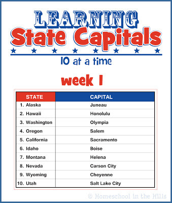 State and Capital Worksheets Printables Learning State Capitals Free Printables
