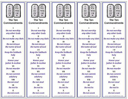 Ten Commandments Printable Worksheets Free Printable Ten Mandments Bookmark