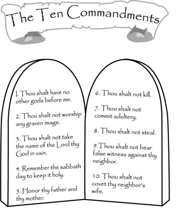 Ten Commandments Printable Worksheets Mandments Catholic Moses Clip Art Library Ten Coloring