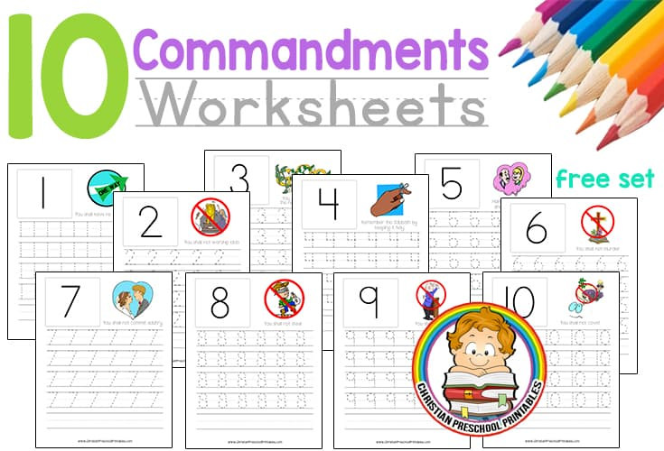Ten Commandments Printable Worksheets Ten Mandment Worksheets Christian Preschool Printables