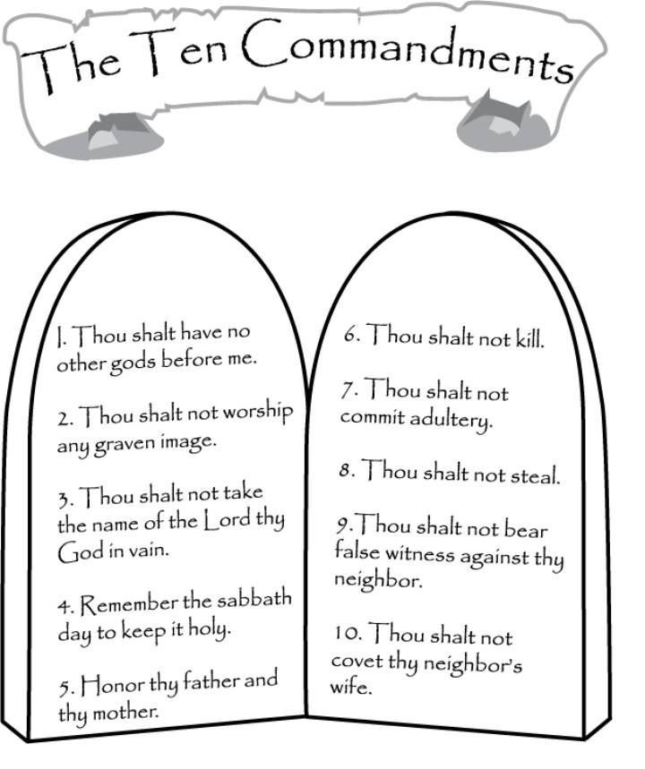 Ten Commandments Printable Worksheets Ten Mandments Coloring Pages Best Coloring Pages for Kids