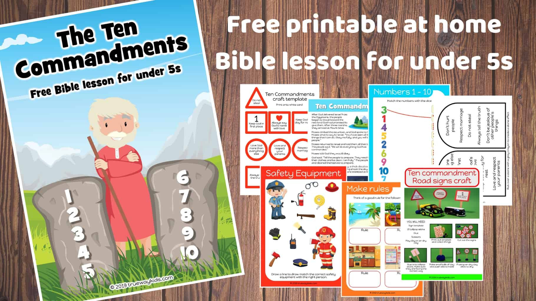 Ten Commandments Printable Worksheets the Ten Mandments Free Bible Lesson for Under 5s