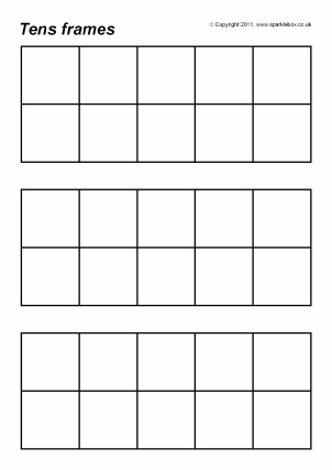 Ten Frame Printable Worksheets Free Printable Tens Frames for Primary School Sparklebox