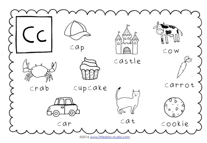 The Letter C Worksheets Preschool Letter C Activities and Worksheets