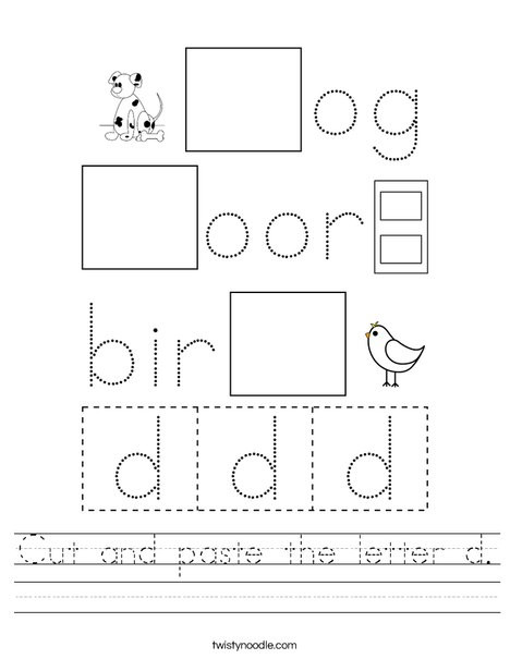 cut and paste the letter d worksheet png 468x609 q85