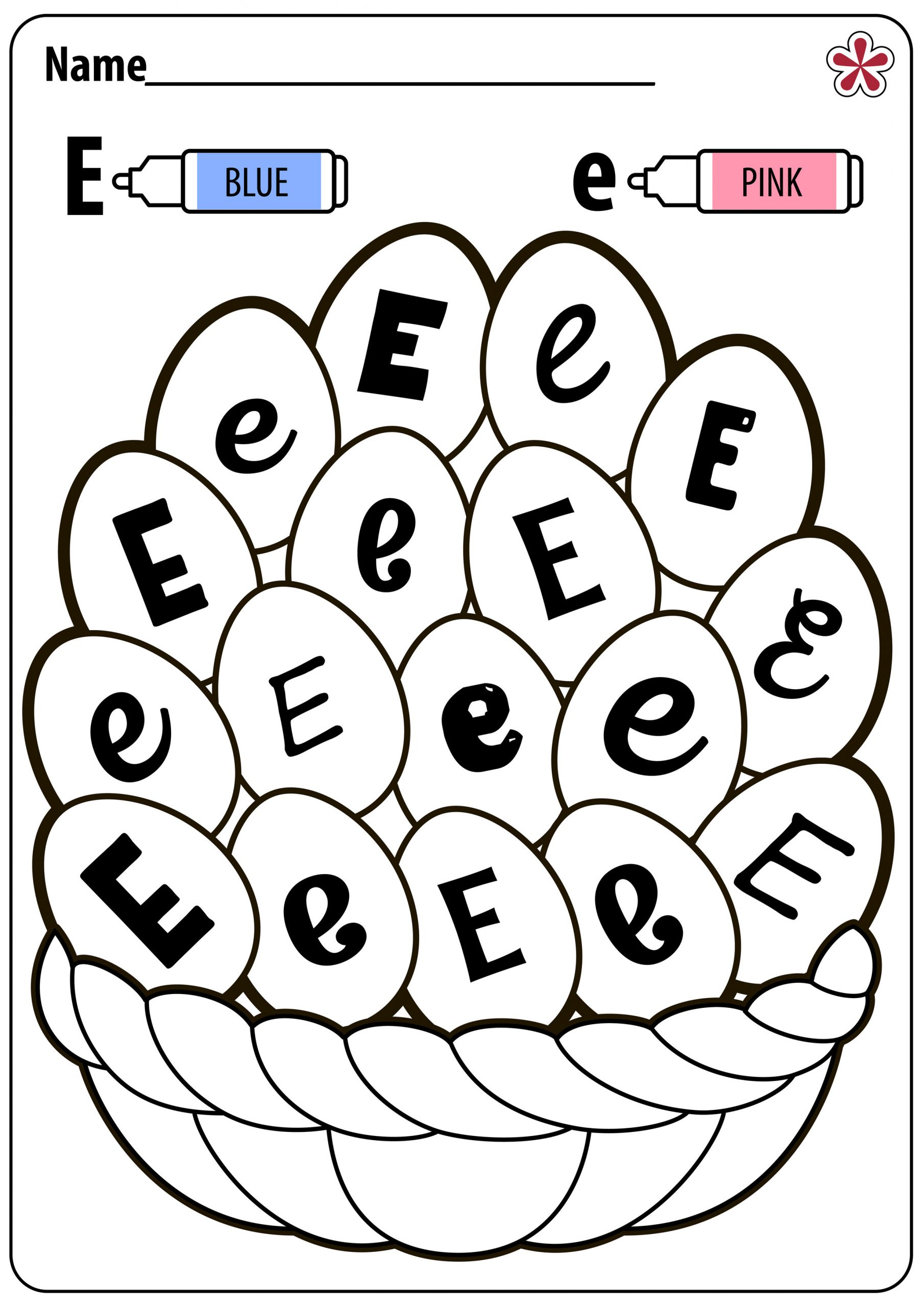 The Letter E Worksheet Letter E Worksheets for Kindergarten and Preschool