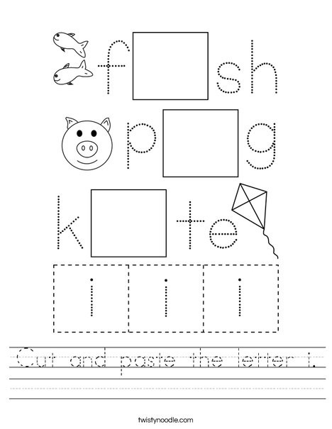 cut and paste the letter i worksheet png 468x609 q85