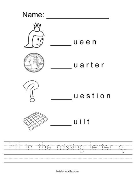 fill in the missing letter q worksheet png 468x609 q85