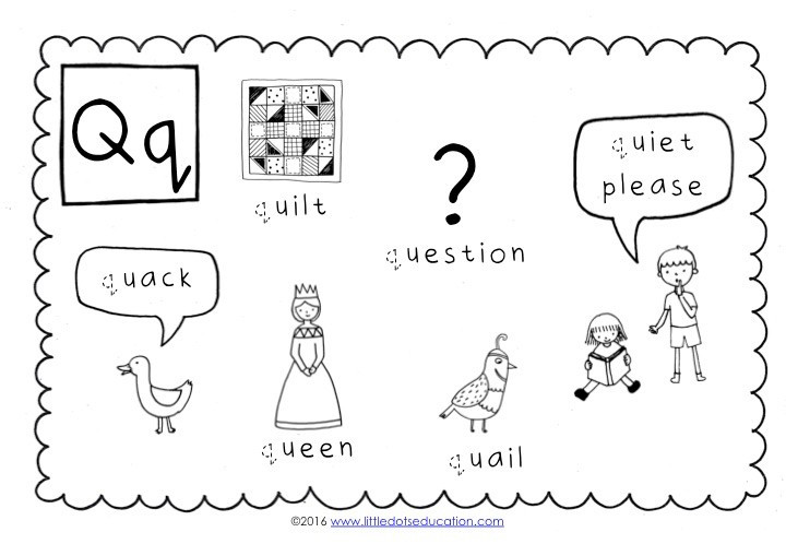 The Letter Q Worksheet Preschool Letter Q Activities and Worksheets