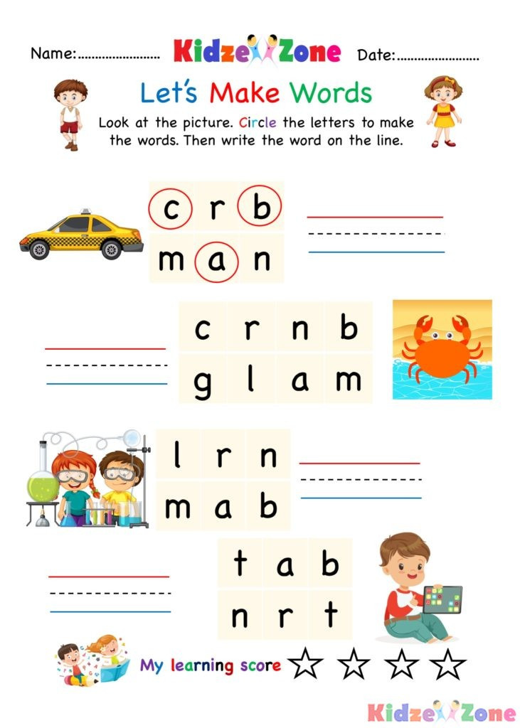 Three Letter Words Worksheets Coloring Pages Kindergarten Worksheets Word Family Write