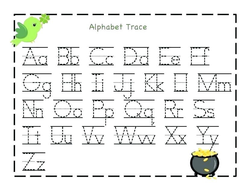 tracing letters and numbers worksheets printable for kindergarten