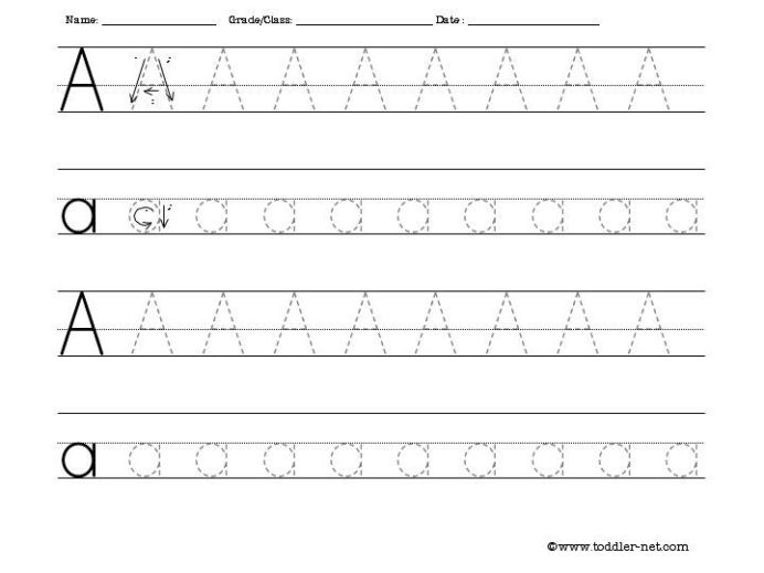 Tracing Letters and Numbers Worksheet Free Activity Sheets for Letters Numbers Shapes and Cursive