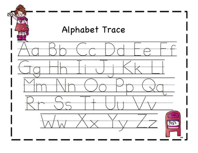 Tracing Letters and Numbers Worksheet Tracing Sheets for Preschool Kids Alphabet Writing