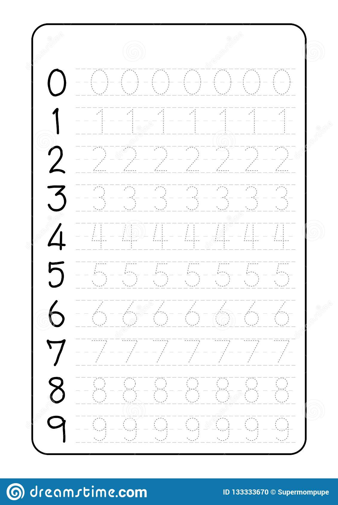 Tracing Letters and Numbers Worksheets Alphabet Letters Tracing Worksheet with Number Children