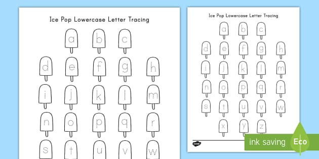 Tracing Lowercase Letters Worksheet L 1 1 A Print All Upper and Lowercase Letters Grade 1