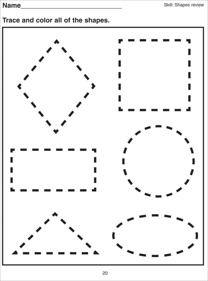 Tracing Shapes Printable Worksheets Shape Tracing Worksheets for Print Free Multiplication Table