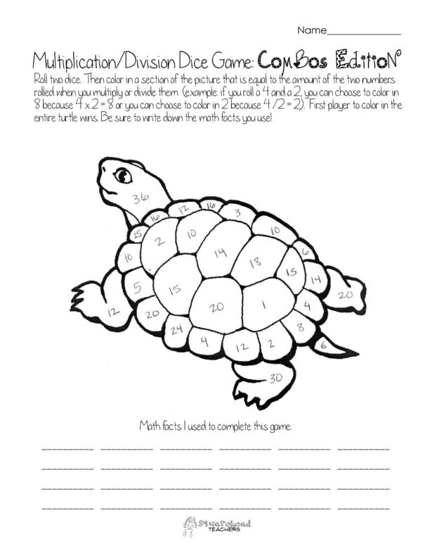Turtle Head Multiplication Worksheet Multiplication Worksheets Free Math Printouts From the