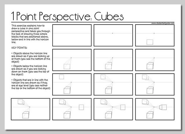 1 point perspective worksheets
