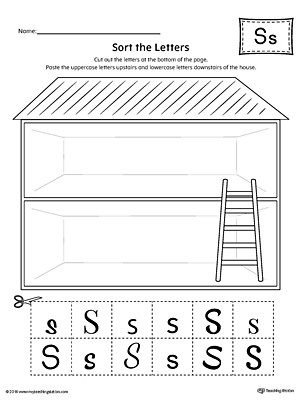 Uppercase and Lowercase Letters Worksheet sort the Uppercase and Lowercase Letter S Worksheet