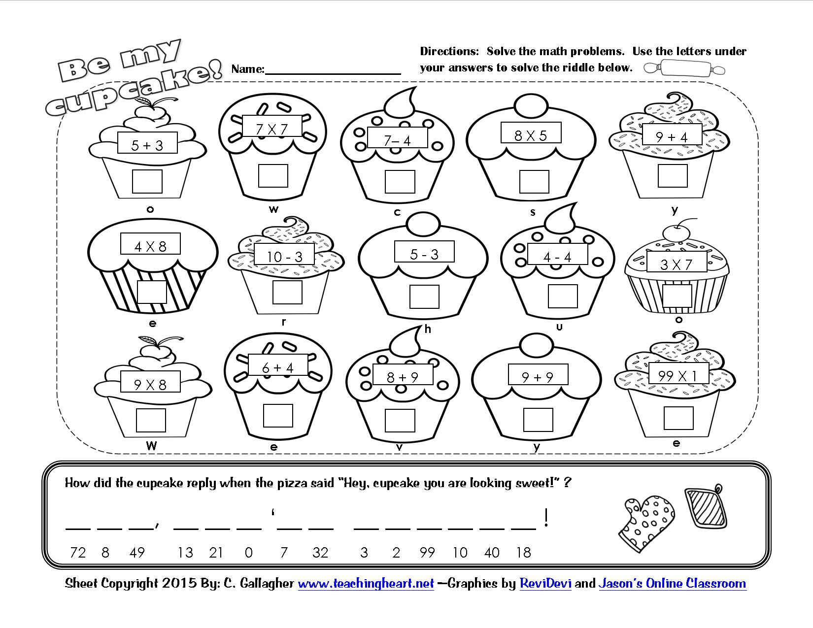 Valentine Day Multiplication Worksheets Valentine Lessons and Activities Math Worksheets 2nd Grade