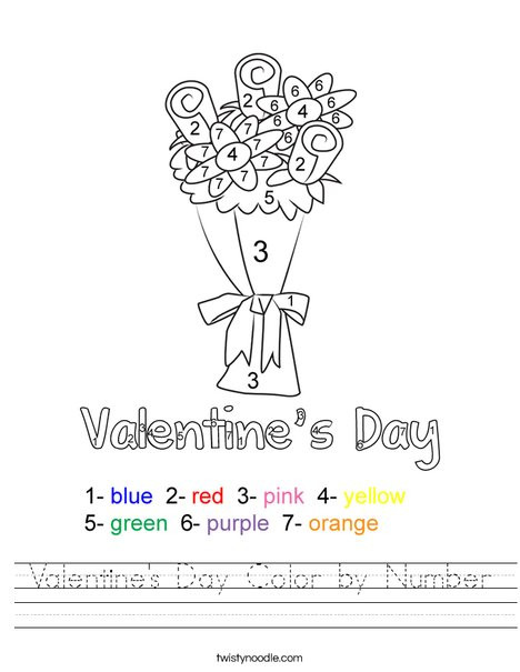 valentines day color by number worksheet png 468x609 q85