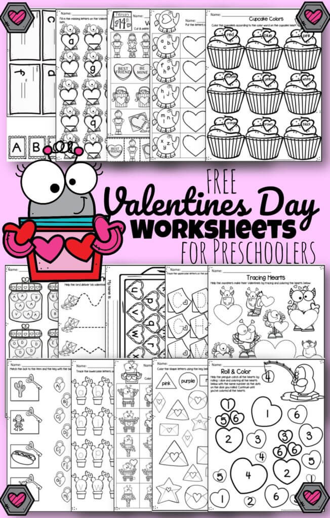 Valentines Day Printable Worksheets tons Of Free Valentines Day Worksheets