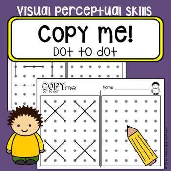 Visual Perceptual Worksheets Free Printables Dot to Dot Copy Practice Visual Perceptual Skills Occupational therapy