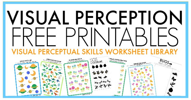 Visual Perceptual Worksheets Free Printables Free Visual Perception Packet the Ot toolbox