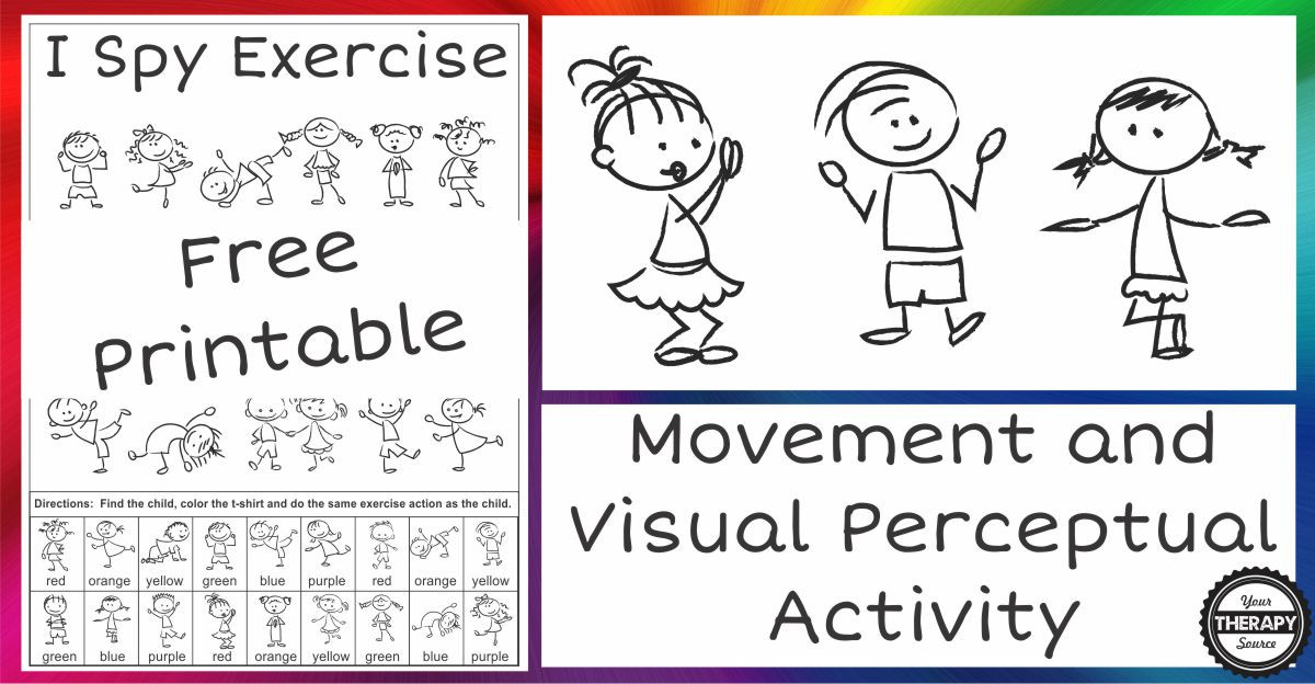 Visual Perceptual Worksheets Free Printables I Spy Exercise Movement and Visual Perceptual Activity Freebie