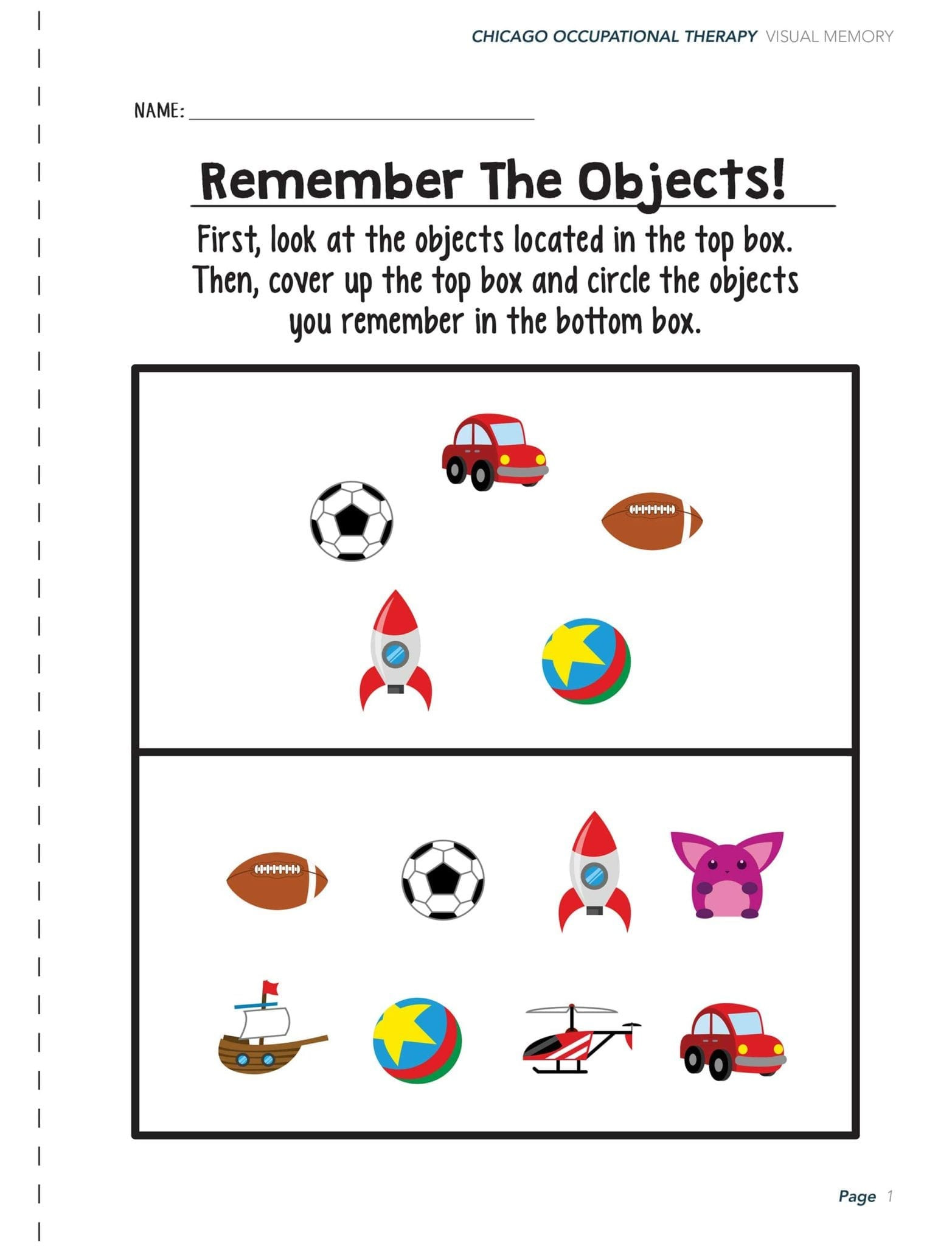 Visual Perceptual Worksheets Free Printables Visual Perceptual Activity Worksheets Chicago Occupational
