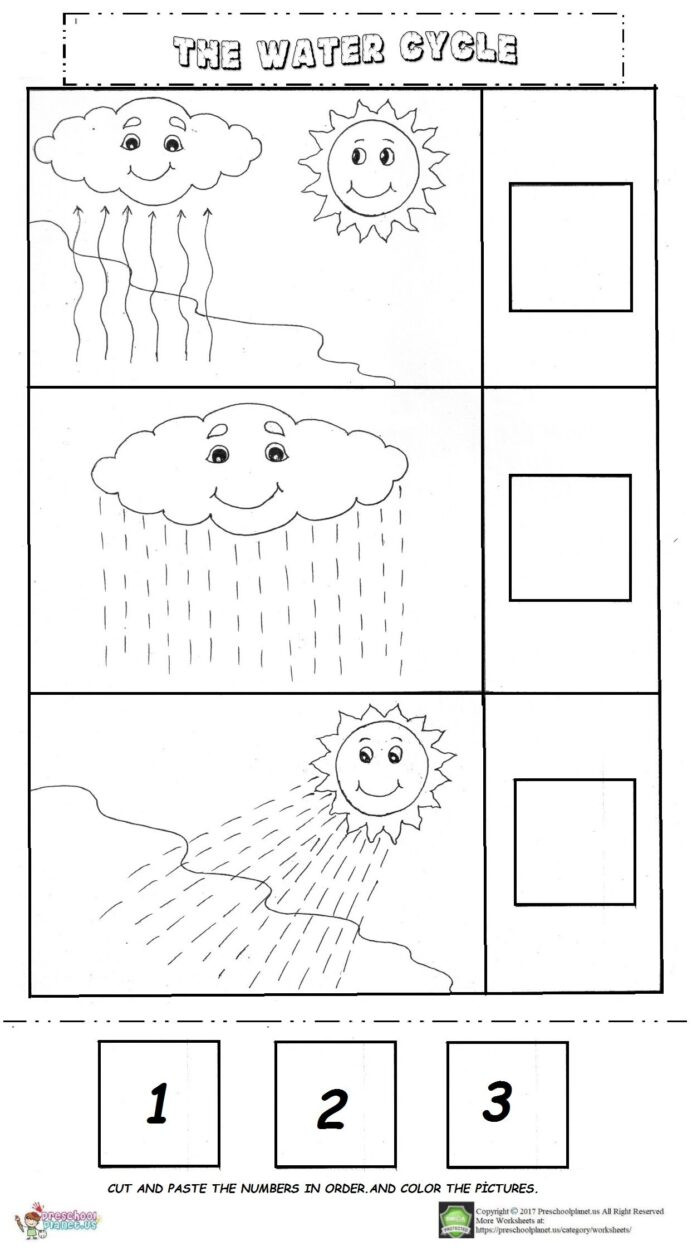 Water Cycle Printable Worksheet the Water Cycle Worksheet Activities Science for Pre