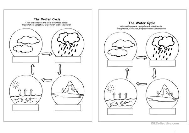 water cycle worksheet templates layouts 2