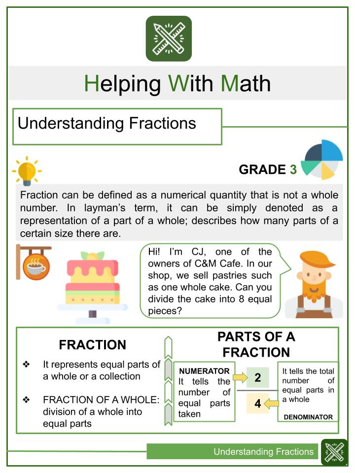 Whole Numbers and Fractions Worksheets Fractions Multiplying by Numbers