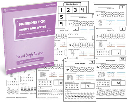numbers 1 20 count and write