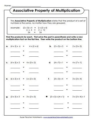 Zero Property Of Multiplication Worksheets Properties Of Multiplication Worksheets