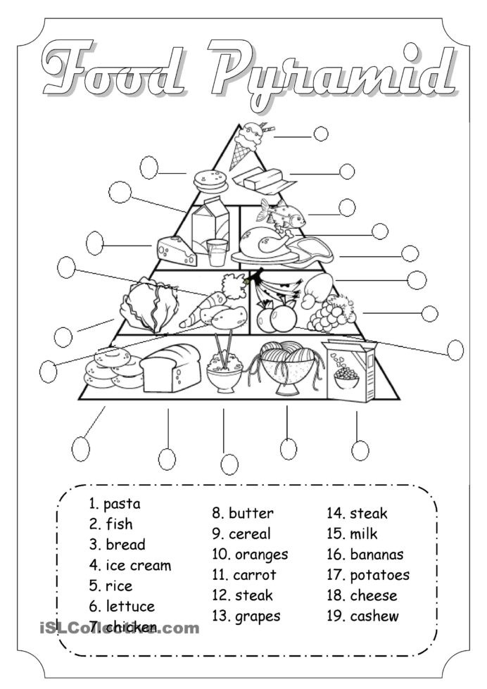 2nd Grade Health Worksheets Health Food Pyramid Printable Worksheet Worksheets and