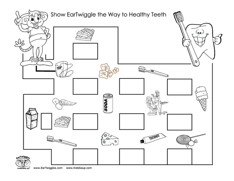 2nd Grade Health Worksheets Healthy Teeth Maze Worksheet for 1st 2nd Grade