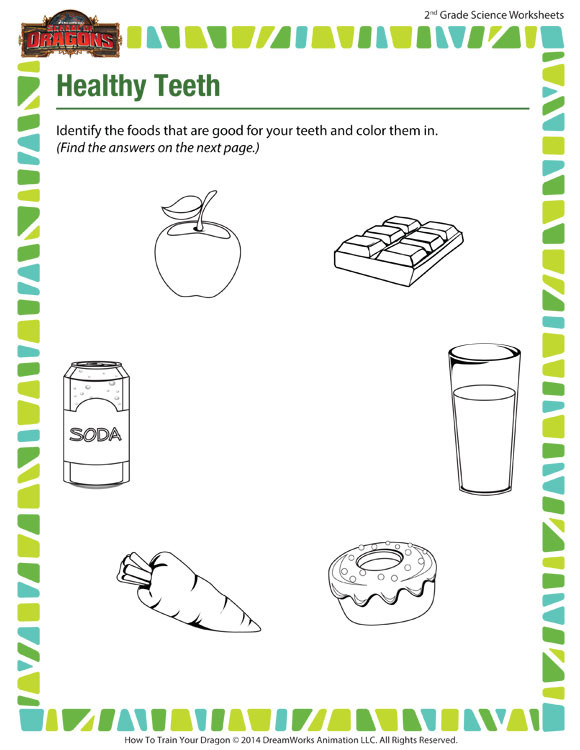 2nd Grade Health Worksheets Healthy Teeth View Science Worksheets for 2nd Grade sod Good