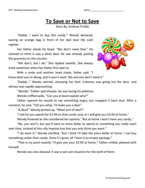 to or not to fourth grade reading prehension worksheet 500x648