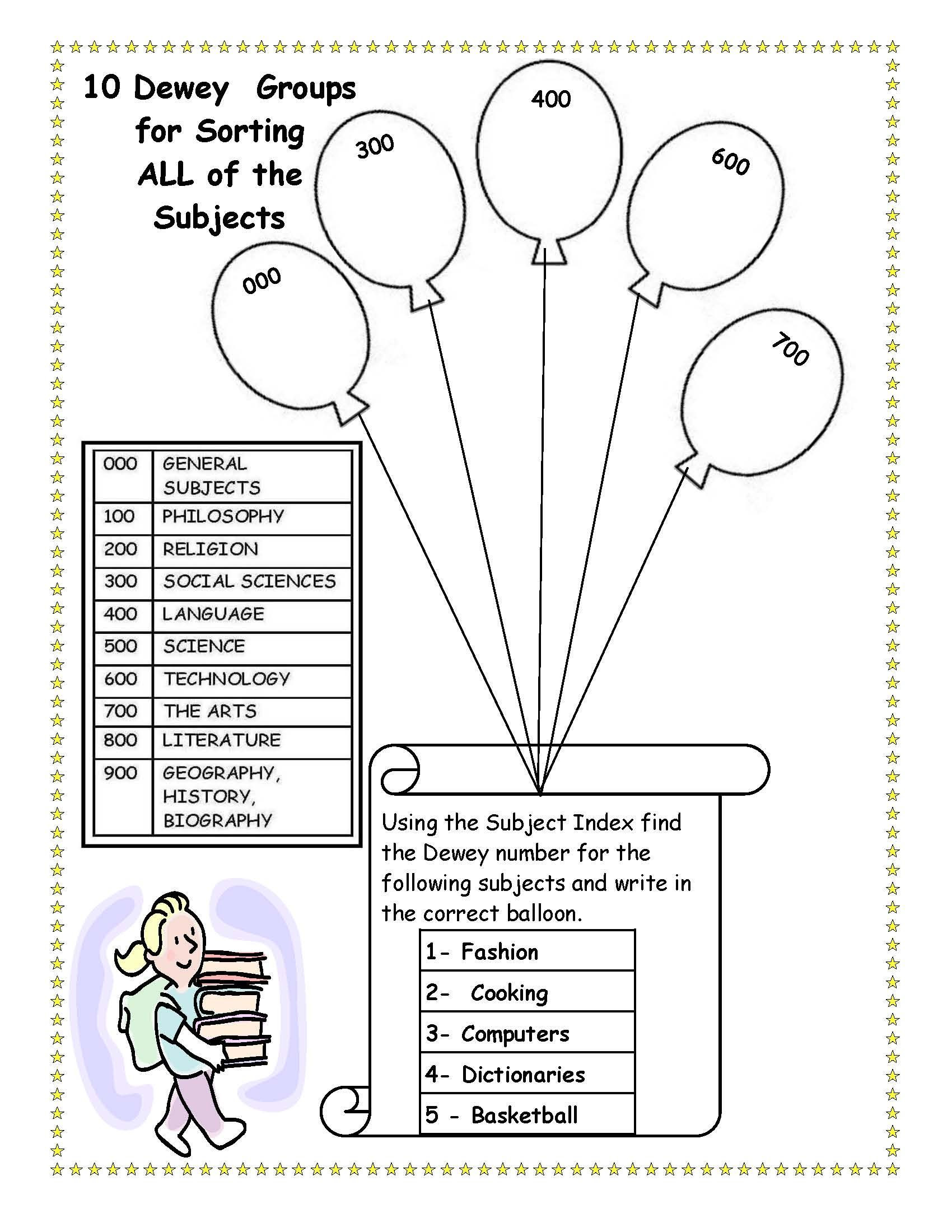 3rd Grade Library Skills Worksheets Cute to Bad I Killed Dewey Library Skills Worksheet